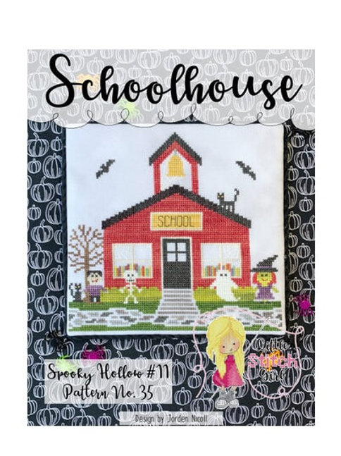 Schoolhouse - Spooky Hollow 11 - by Little Stitch Girl -  Cross Stitch Pattern