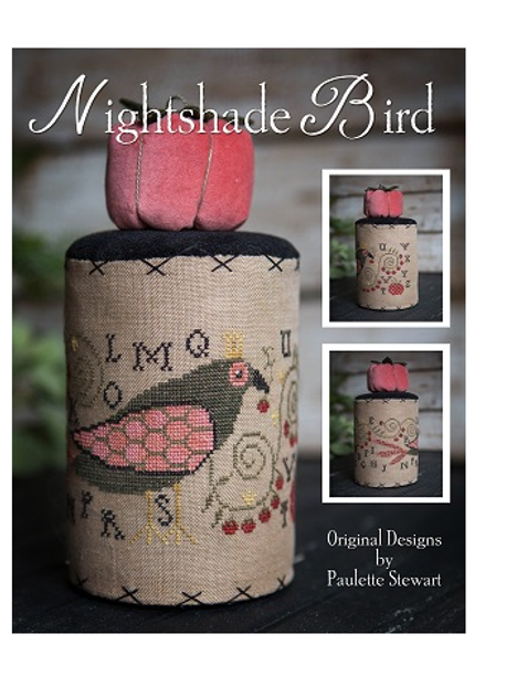 Nightshade Bird - by Plum Street Samplers - Cross Stitch Pattern