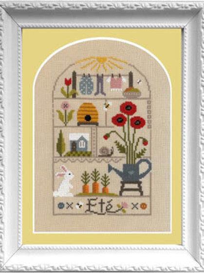 Petits Moments De L'Ete (Summer) - Jardin Prive - Cross Stitch Pattern