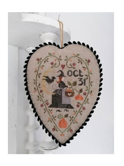 Coeur de Sorciere (Witch Heart) - by Tralala Cross Stitch Pattern