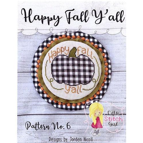 Happy Fall Ya'll - Little Stitch Girl - Cross Stitch Pattern
