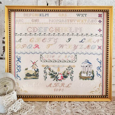 The Red R Sampler - Hello from Liz Matthews - Cross Stitch Pattern