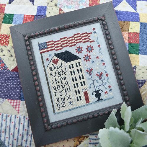 American Sampler House - by Annie Beez Folk Art