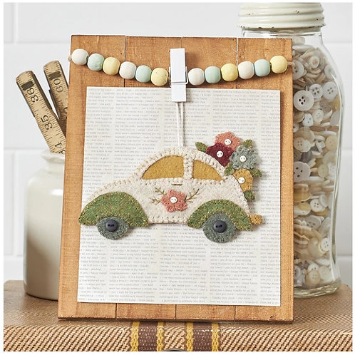 Vintage VW Ornament (May) - Wool Applique Pattern