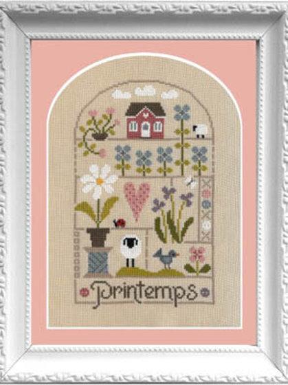 Petits Moments Du Printemps (Spring)- Jardin Prive -  Cross Stitch Pattern