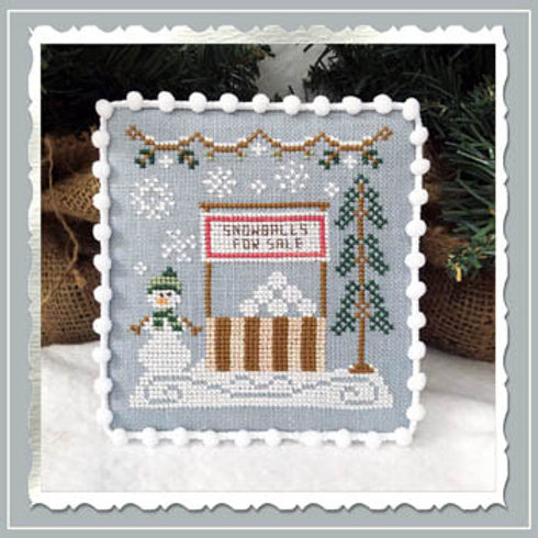 In Stock - Snow Village - Snowball Stand- By Country Cottage Needleworks