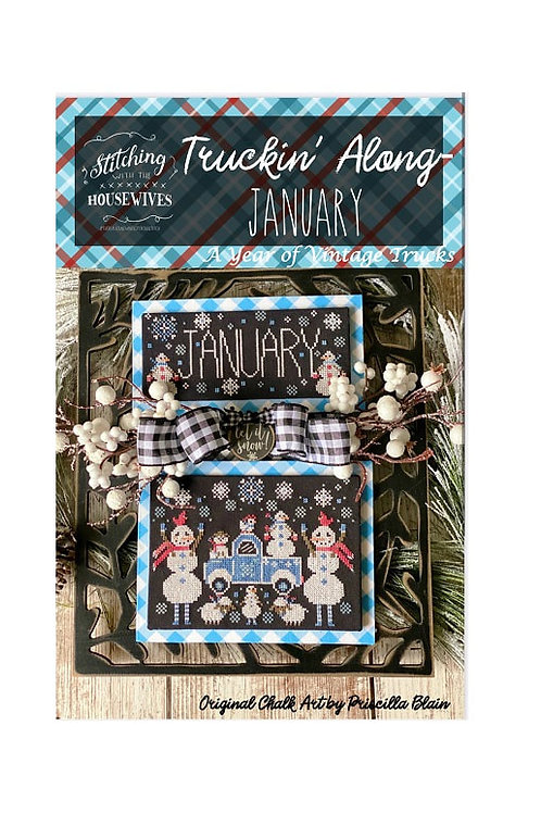 January Truckin' Along - Stitching With the Housewives - See Pre Order Note