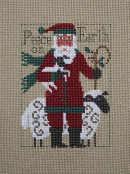 2019 Schooler Santa - The Prairie Schooler - Cross Stitch Pattern