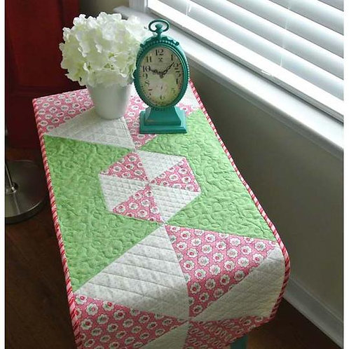 Peppermints Table Runner - by Swirly Girls Design for Cut Loose Press