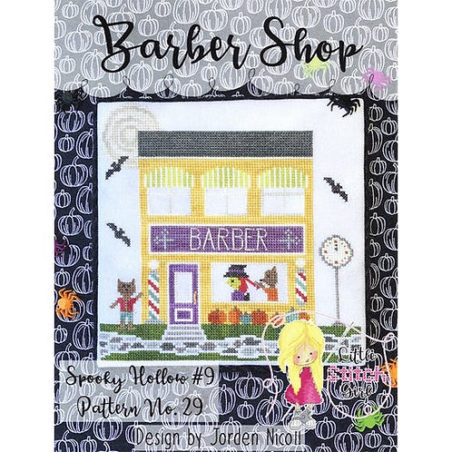 Barber Shop - Spooky Hollow # 9 - by Little Stitch Girl - Cross Stitch Pattern