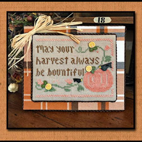 Bountiful Harvest by Little House Needleworks - Cross Stitch Pattern