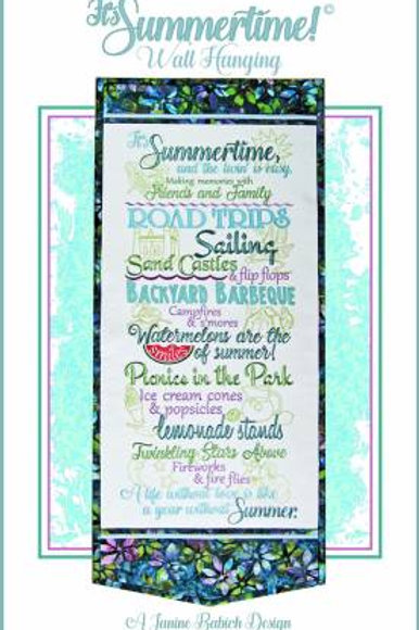 Its Summertime! Wall Hanging - Machine Embroidery Design