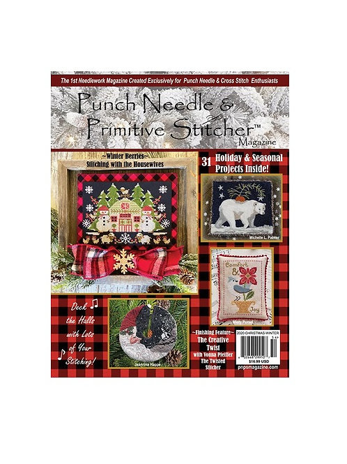 Punch Needle & Primitive Stitcher Magazine - 2020 Christmas/Winter Issue