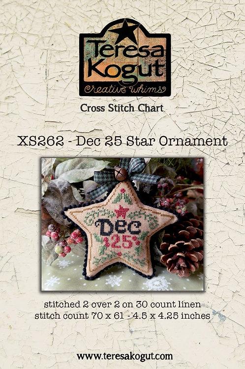 Dec 25 Star Ornament XS262 by Teresa Kogut