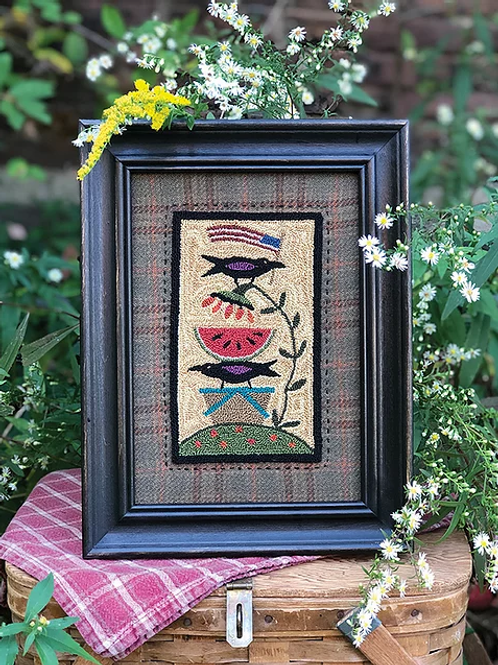 Family Picnic - Punchneedle Pattern - by Threads that Bind