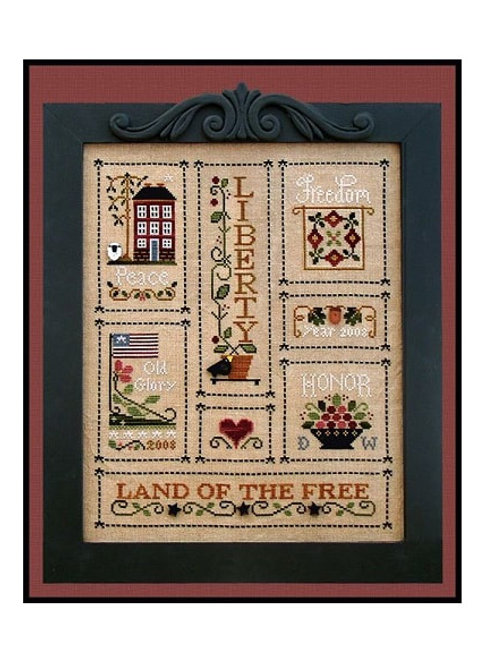 Heart of America - Little House Needleworks - Cross Stitch Pattern