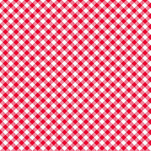 Chelsea's Checks -  Red/White -1 Yard Cut - Stitching With the Housewives