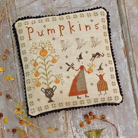The Perfect Pumpkin, Fancy Blackett - Pineberry Lane - Cross Stitch Pattern