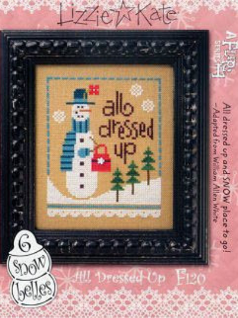 All Dressed Up - 6 Snow Belles Series - Lizzie Kate - Cross Stitch Pattern