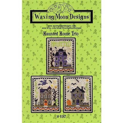 Haunted House Trio - Waxing Moon Designs - Cross Stitch Pattern