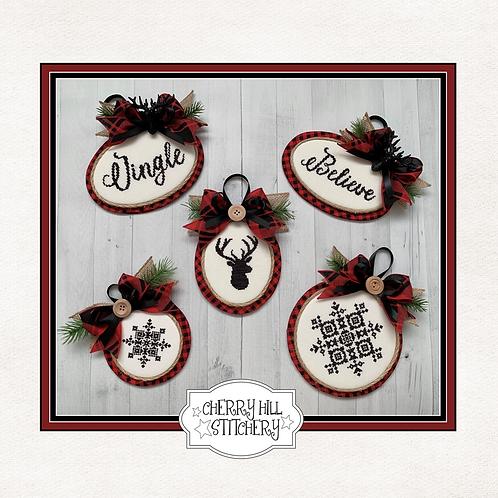 Christmas Ornaments 1 - by Cherry Hill Stitchery - PDF Pattern