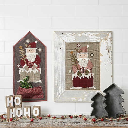 Coming Down the Chimney - Wool Applique Pattern