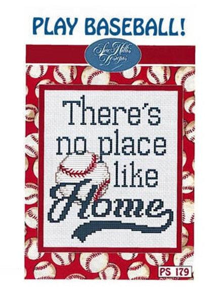 Play Baseball - by Sue Hillis - Cross Stitch Pattern