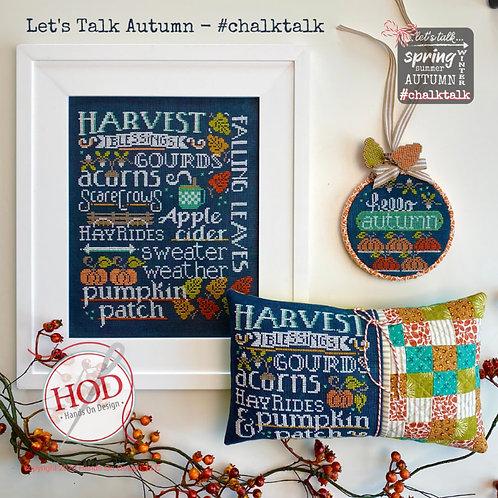 Let's Talk Autumn - Hands On Design - Cross Stitch Pattern