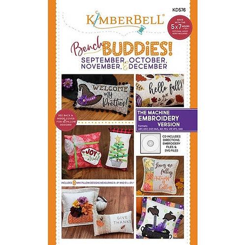 Bench Buddies! Sept, Oct, Nov & Dec Embroidery CD Kimberbell