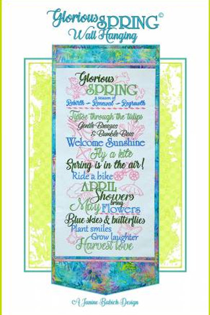 Glorious Spring Wall Hanging - Machine Embroidery Design