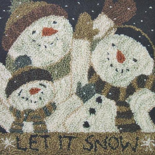 Let it Snow PN085 by Teresa Kogut - Punchneedle