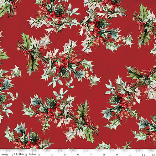 Yuletide Main Red sku:C9630-RED - by My Mind's Eye for Riley Blake Fabrics