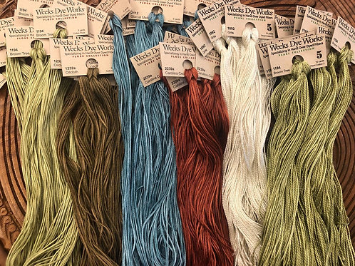 Weeks Dye Works A - L Color Selection