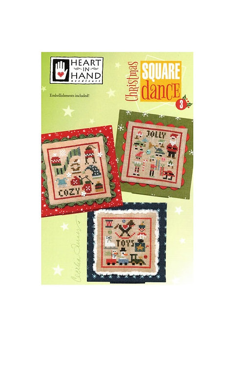 Christmas Square Dance 3 by Heart In Hand- Cross Stitch Pattern