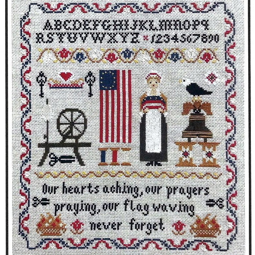 """""""Betsy Ross Sampler"""" - by Twin Peaks Primitives"""