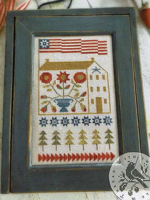 Baltimore Saltbox - With Thy Needle and Thread - Cross Stitch Pattern