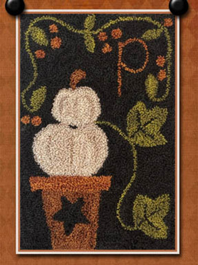 P is for Pumpkin (Punchneedle) - by Little Houseneedleworks