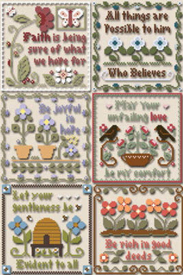 Inspirational Scriptures - Little House Needle Works - Cross Stitch Pattern
