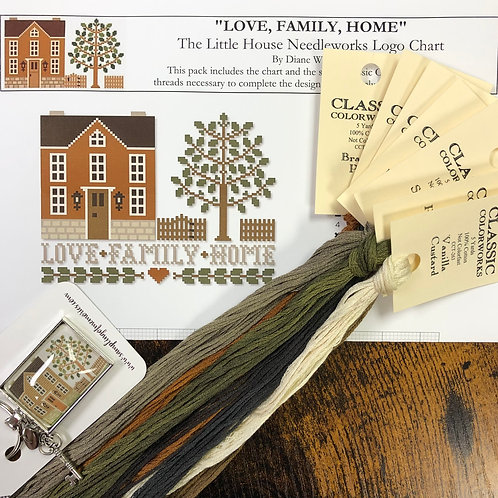 Love, Family, Home - by Little House Needleworks