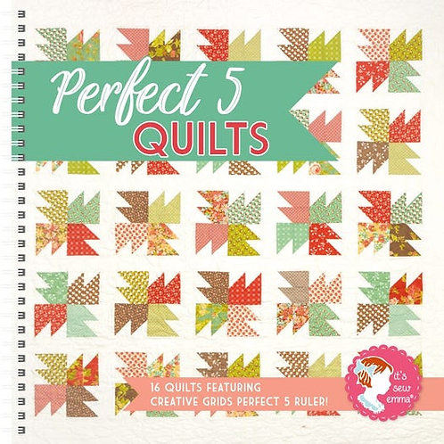 Perfect 5 Quilts Book by It's Sew Emma - #ISE-933