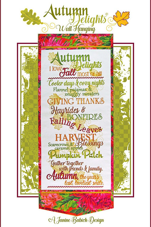 Autumn Delights Wall Hanging - Machine Embroidery