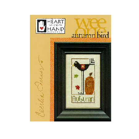 Wee One - Autumn Bird - Heart in Hand - Cross Stitch Pattern