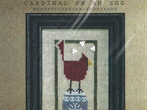 Cardinal on an Egg - by Bend Creek