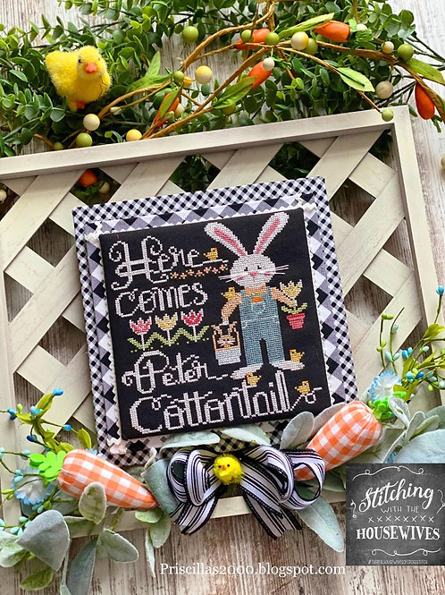 """Here Comes Peter Cottontail"" - by Stitching With the Housewives"