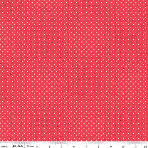 Swiss Dots Cayenne White Swiss Dot Yardage SKU# C670-CAYENNE