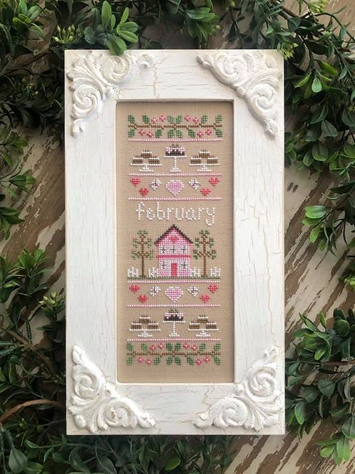 Sampler of the Month -February - by Country Cottage Needleworks