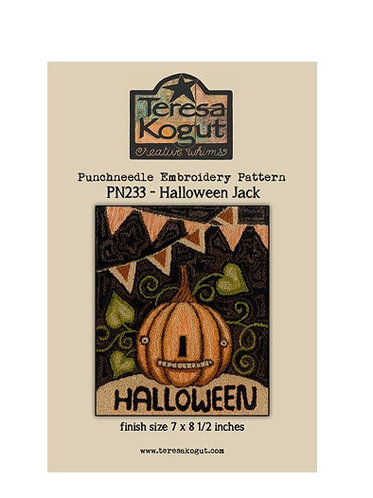 Halloween Jack - PN233 - Teresa Kogut - Punchneedle