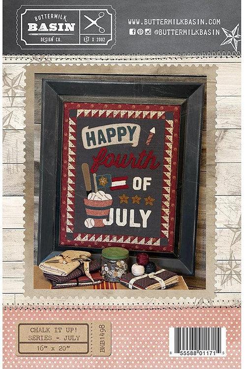 CHALK IT UP - July - Wool Applique Pattern