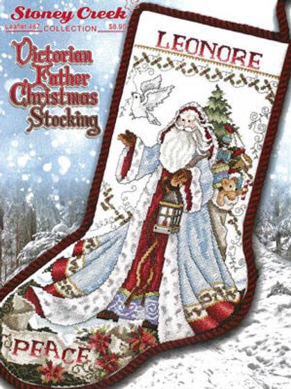 Victorian Father Christmas Stocking - Stoney Creek - Cross Stitch Pattern