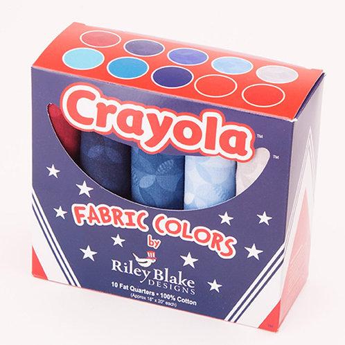 Crayola™ Star & Stripes Fat Quarter Bundle - by Riley Blake Designs